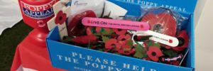 Poppy Appeal box at Britannia Safety and Training